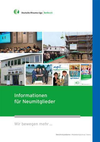 """Bild der Broschüre """"Informationen für Neumitglieder"""""""