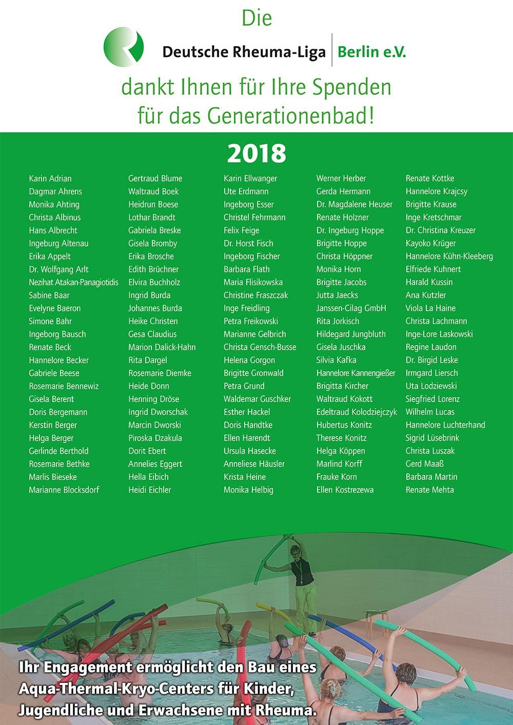 Spenden 2018
