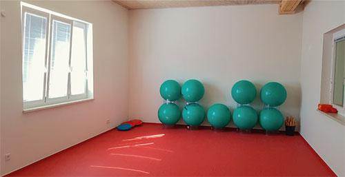 Der Gymnastikraum aus dem Generationenbad