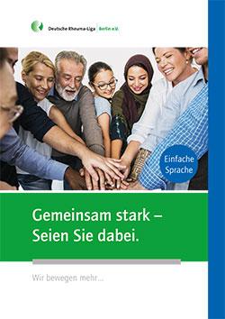 """Cover der Broschüre """"Gemeinsam stark"""" - in einfacher Sprache"""