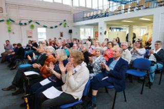 Jubilare für treue Mitgliedschaft auf Benefizkonzert