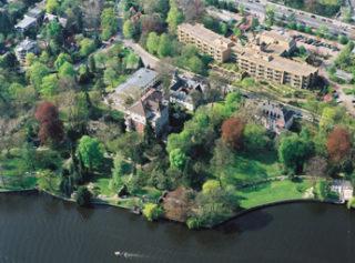 Luftaufnahme des Immanuel Krankenhauses am Wannsee
