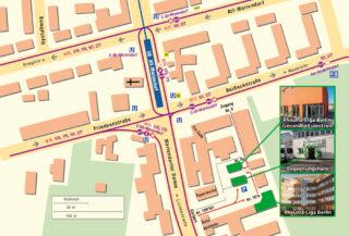Lageplan zur Rheuma-Liga Berlin